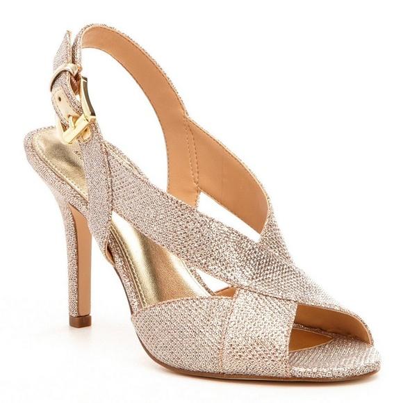Michael Kors Rose Gold Heels | Poshmark